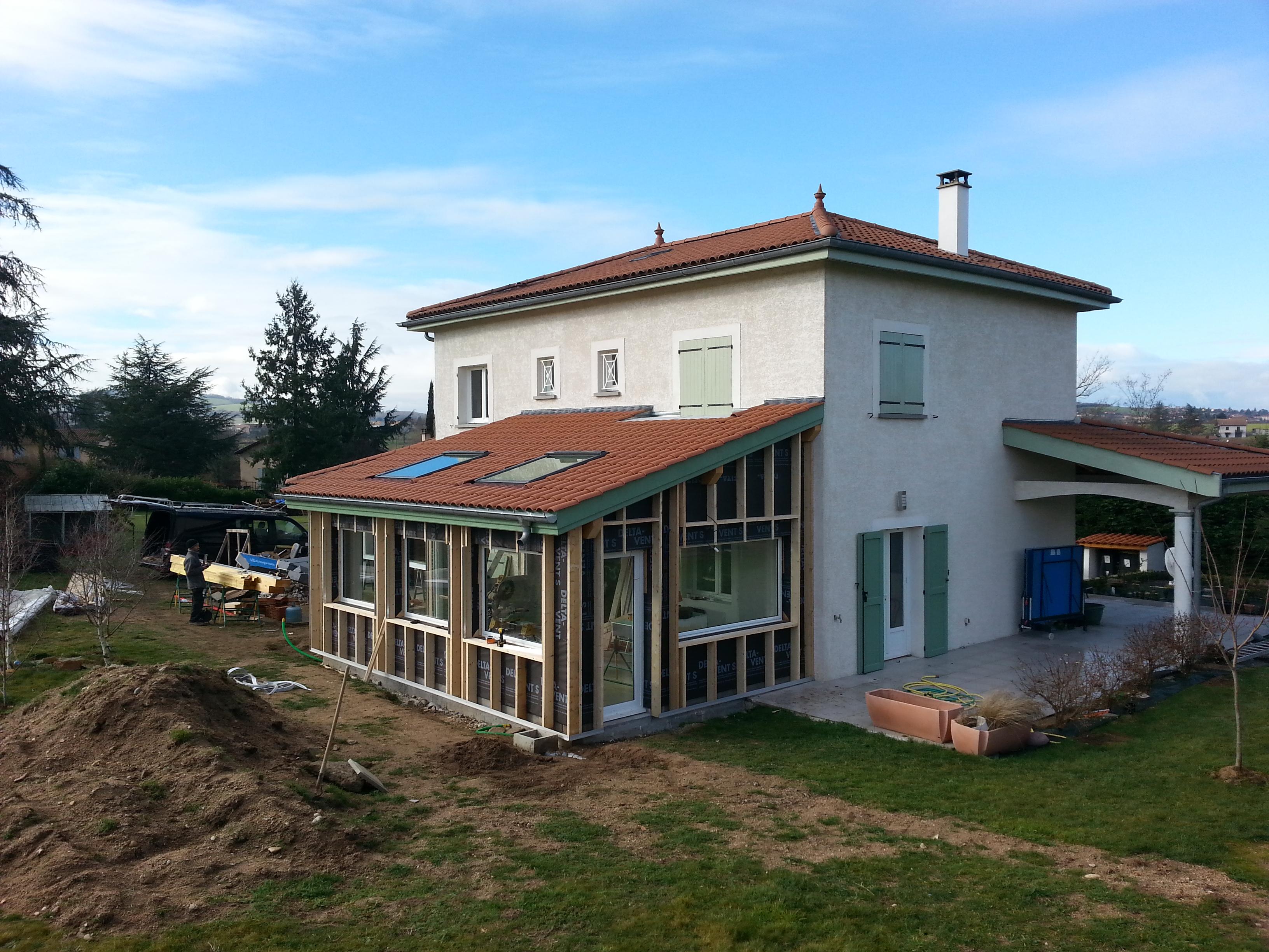 Frais Maison et extension en ossature bois - Lyon - MV Toiture WG18